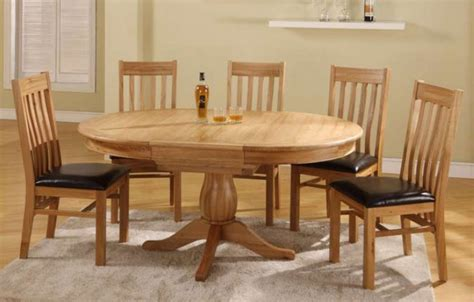 Havana Oak Round To Oval Extending Dining Table 6 Or 8 Circular Oak Dining Table And Chairs