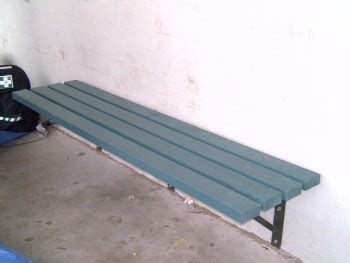 wall mounted bench  solid recycled plastic wall structure