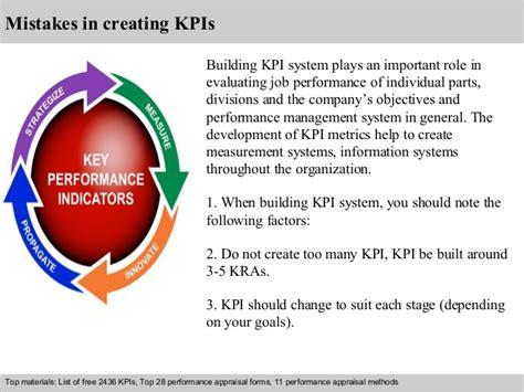 Kpi for administration department