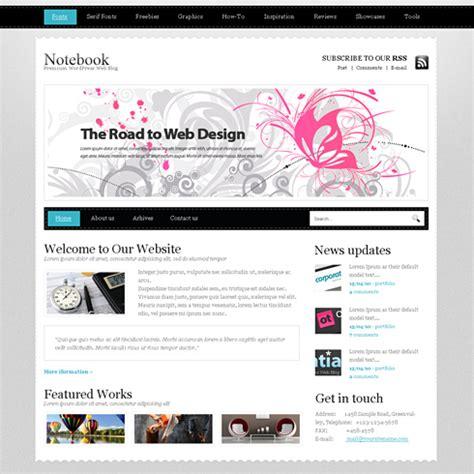 Notebook Website Template Web Blog Personal Css Templates Dreamtemplate Laptop Website Templates Free