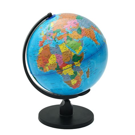 spinning globe desk toy rotating world earth globe map swivel stand geography toys