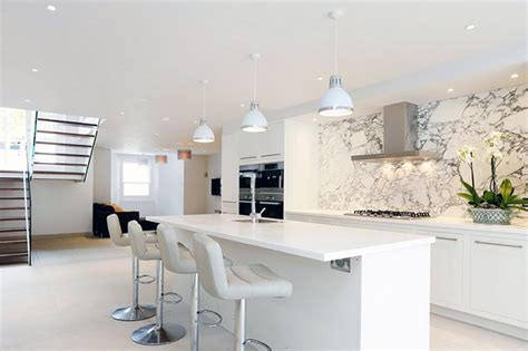 contemporary white kitchens all white kitchen design ideas