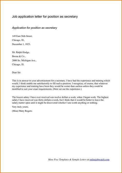 sample application letter for job applyreference letters