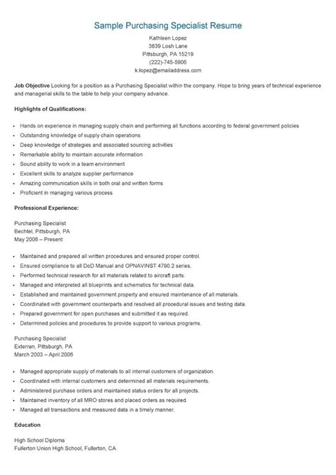 Resume For Ultrasound Application Specialist Sle Purchasing Specialist Resume Resame