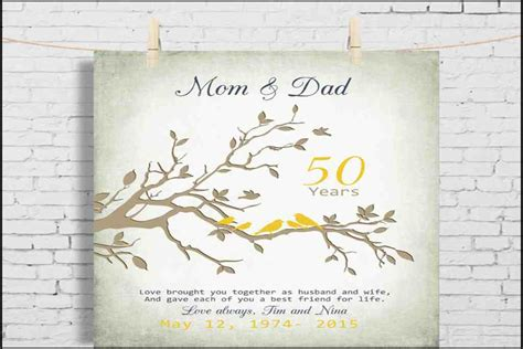 Wedding Anniversary Gift For Parents by 50th Wedding Anniversary Gifts For Parents Evgplc