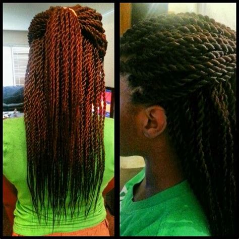 mohawk with senegalese rope twist care for relaxed hair pinterest jumbo twists braids with extentions pinterest jumbo