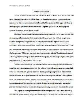 personal goals template personal goals paper hcs 301