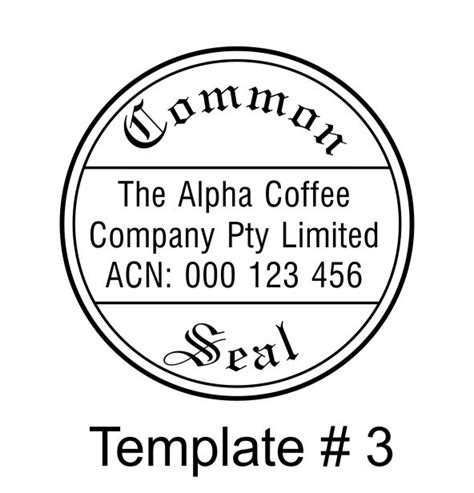 common seal template csfold jemac rubber sts abn 39 387 733 808