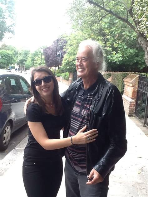 house of fan page jimmy page with a fan outside his home in aug 12