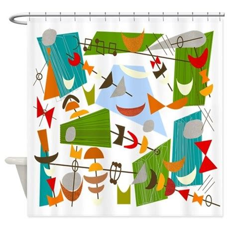atomic shower curtain atomic funky best c clear shower curtain by gailgabel