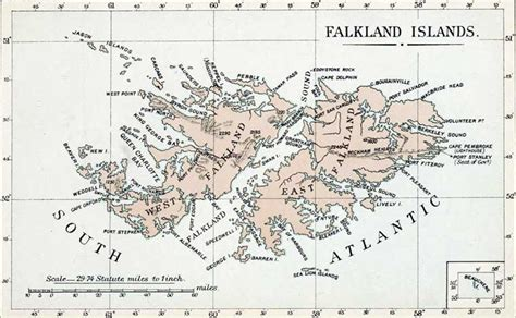 falkland islands on map map of the falkland islands from the colonial office