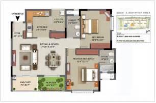 2 Bhk Plan by Mantri Glades Floor Plan Glades Landscape 2 2 5 3 Bhk