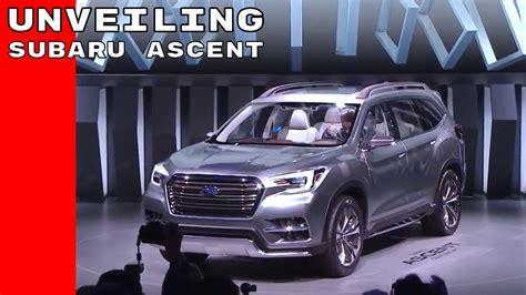subaru 7 passenger suv subaru ascent suv 7 passenger concept unveiling