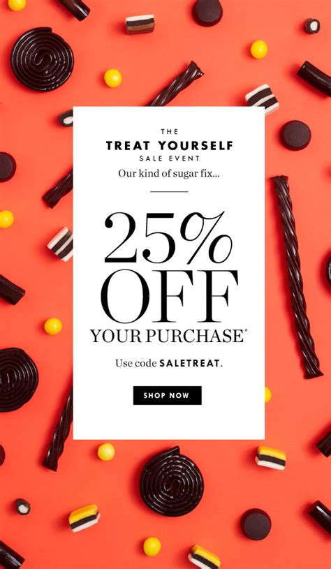 promotion layout inspiration j crew it s treat time 25 off starts now milled
