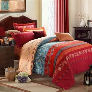 Rust orange blue and dark red bohemian boho style vintage chic