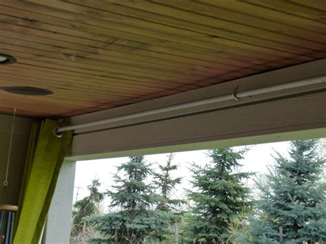 outdoor curtain rods for patio julie peterson simple redesign diy budget outdoor