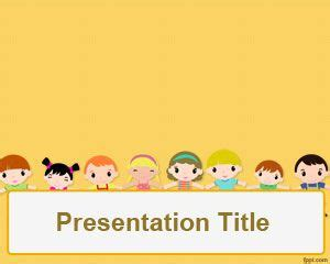 Children S Day Powerpoint Template Free Powerpoint Templates For Children