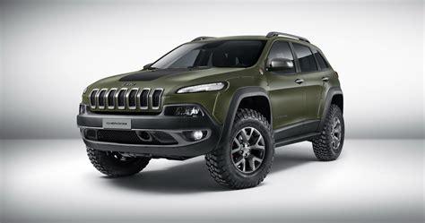 jeep cherokee green 2015 mopar brings three rugged jeep show cars to frankfurt