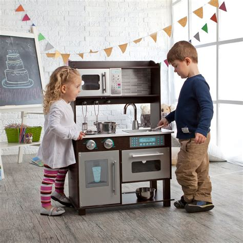 amazon com kidkraft toddler play kitchen with metal