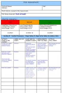 Working At Height Permit To Work Template by Working At Height Risk Assessment