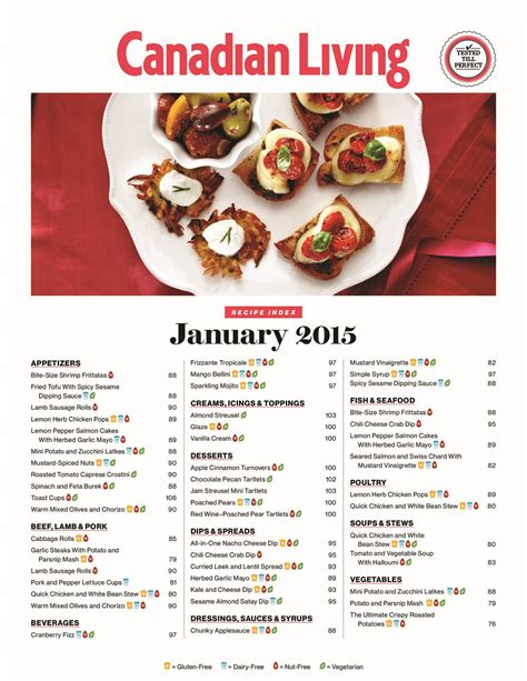 canadian living new year recipes canadian living recipe index 2015 pdf docdroid
