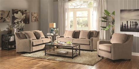 Taupe Living Room Furniture by Torres Taupe Living Room Set 504721 Coaster