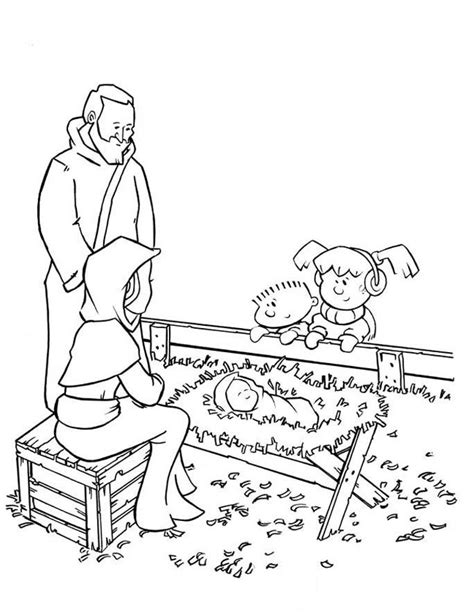 coloring pages jesus grows up baby jesus story coloring home