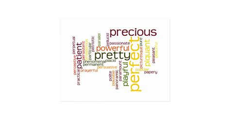 describe yourself pattern describe yourself with adjectives p postcard zazzle