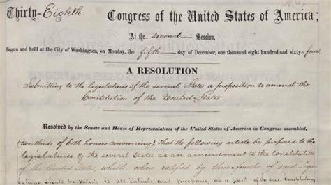 abraham lincoln 14th amendment congress passes 13th amendment 150 years ago history in
