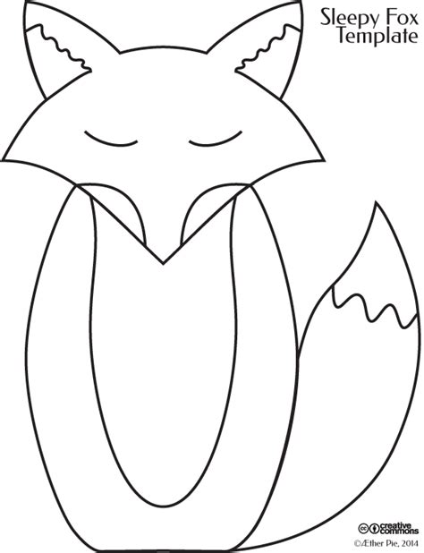 fox template fox craft template 198 ther pie