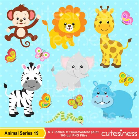 safari animals clip jungle animal clipart safari clipart safari clip