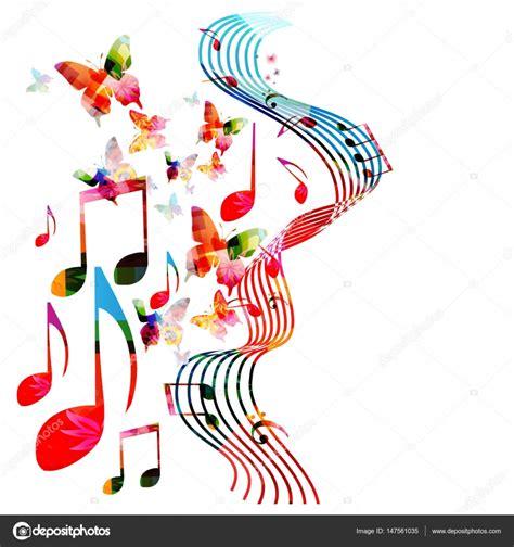 Imagenes De Notas Musicales En Colores | colores de fondo con notas musicales vector de stock