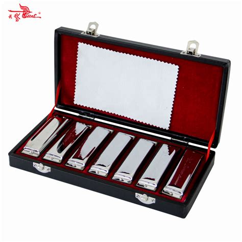 Bluss Set swan bluesband harmonicas diatonic blues harp harmonica set with key of a b c d e f g
