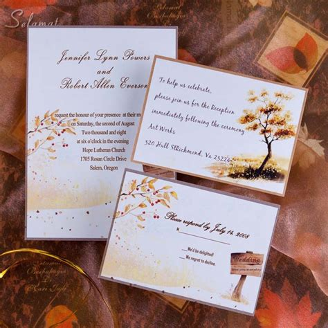 rustic themed wedding invitations country side style gold rustic fall cheap wedding invitations ewi045 as low as 0 94