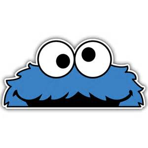 Cookie monster peeper sticker oilcan stickers