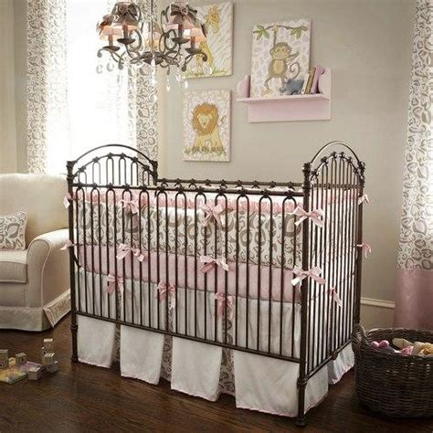 Leopard Print Crib Bedding Set Pink And Taupe Leopard Crib Bedding Baby Bedding In