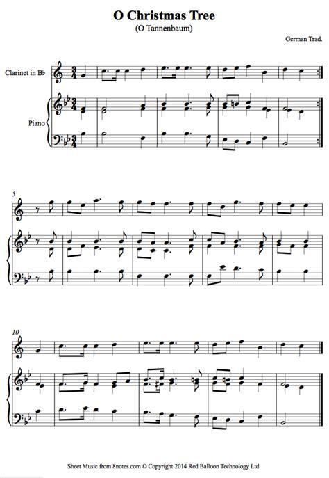 o christmas tree o tannenbaum sheet music for clarinet