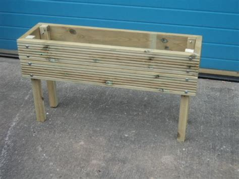 Raised Wooden Planters by Raised Wooden Planters 2 Rows Of Decking