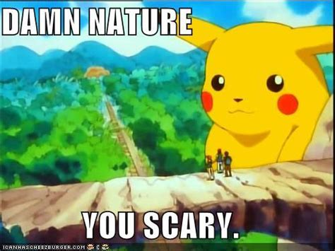 Damn Nature You Scary Meme - this is how you gain weight pokemon know your meme memes