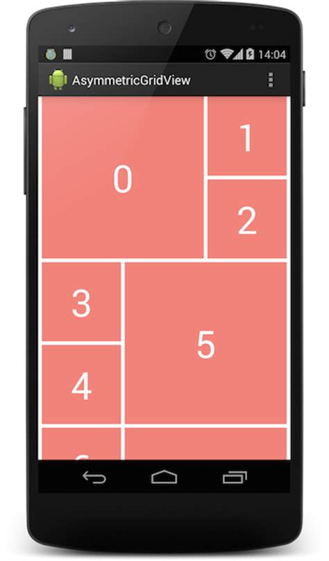 set layout manager android asymmetricgridview