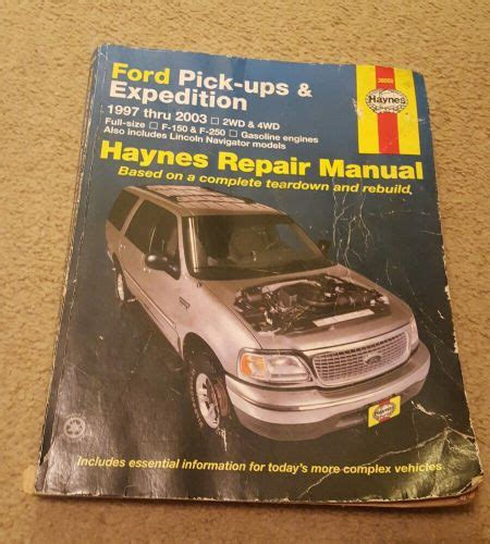 1997 2003 ford trucks expedition haynes repair manual for find haynes repair manual ford pick ups expedition 1997 2003 2wd 4wd motorcycle in