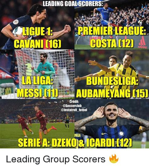 epl goal leader leading goalscorers premier league cavani 16 costa c12 la