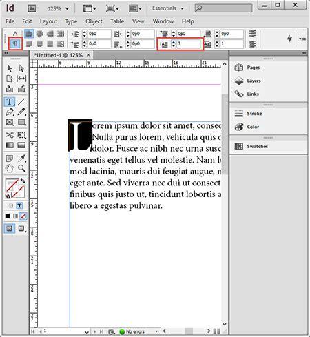 membuat brosur dengan indesign membuat drop caps pada paragraf dengan indesign cs6