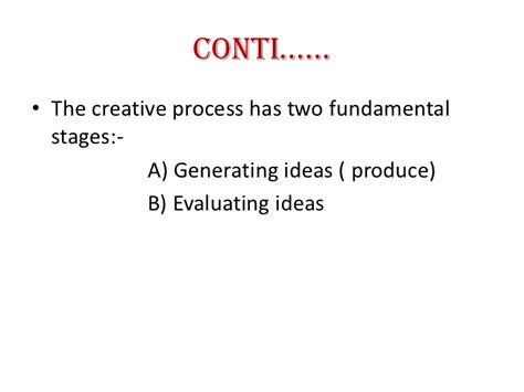 Mba For Inovation by Creativity And Innovation Ppt Mba
