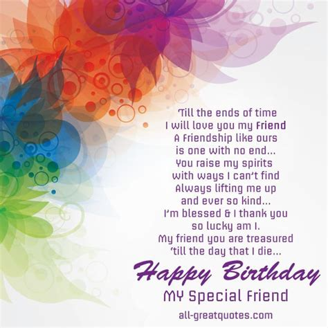 Free Birthday Quotes For Happy Birthday To A Special Friend Pictures Photos And