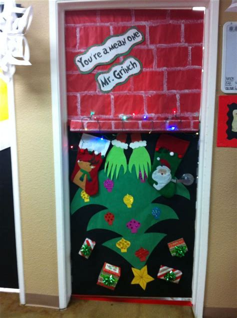 image result    grinch stole christmas door