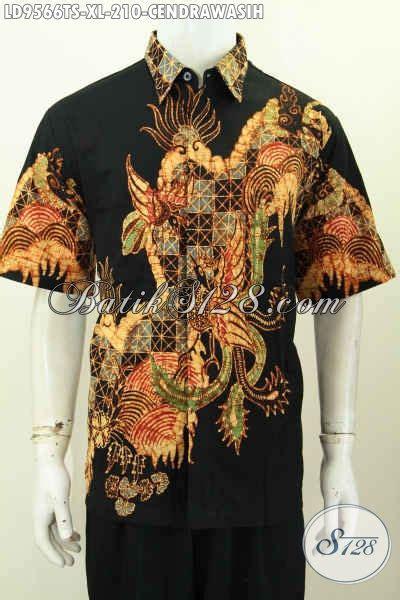 Bahan Batik Halus Motif Sinaran Cendrawasih Toska Batik Pekalongan kemeja batik pria lengan pendek untuk kerja hem batik tulis halus tulis soga motif cendrawasih