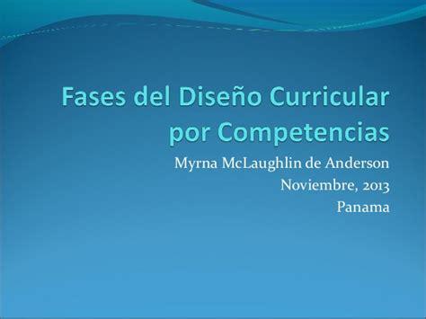Diseño Curricular Por Competencias En Educacion Fases Dise 241 O Curricular Por Competencias