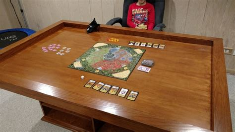 diy board table build your own gaming table with plenty of storage your