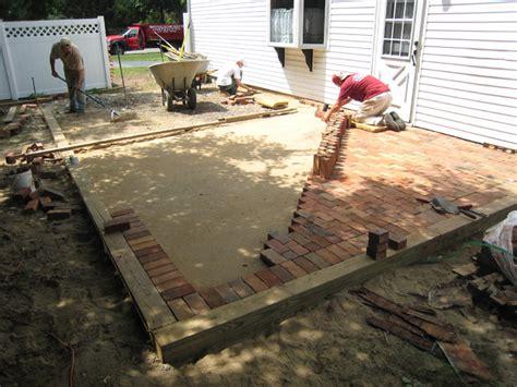 Patio Installation by Brick Patios Island Ny Pavers Cement